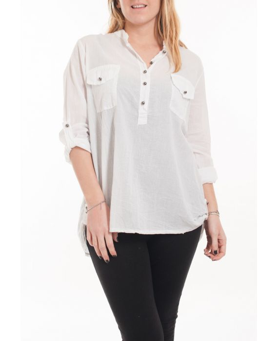 GRAND TAILLE CHEMISIER 5067 BLANC