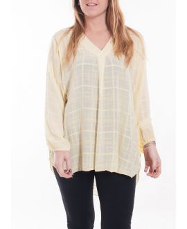 SIZE LARGE BLOUSE V-NECK 5061 YELLOW