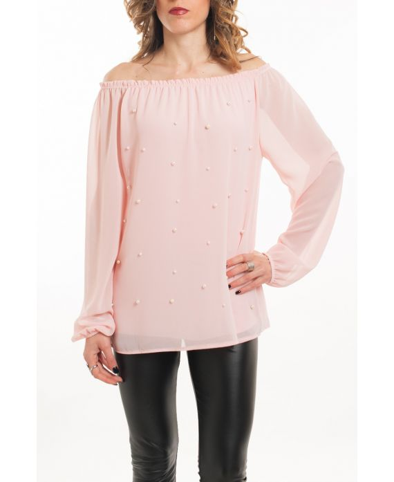 BLOUSE BEADS 5062 PINK