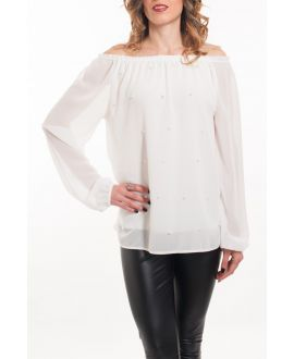 BLOUSE BEADS 5062 WHITE