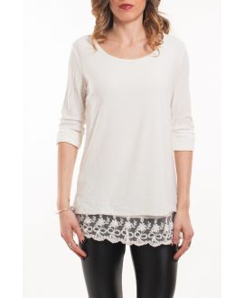 T-SHIRT LACE OVERLAY 5051 WIT