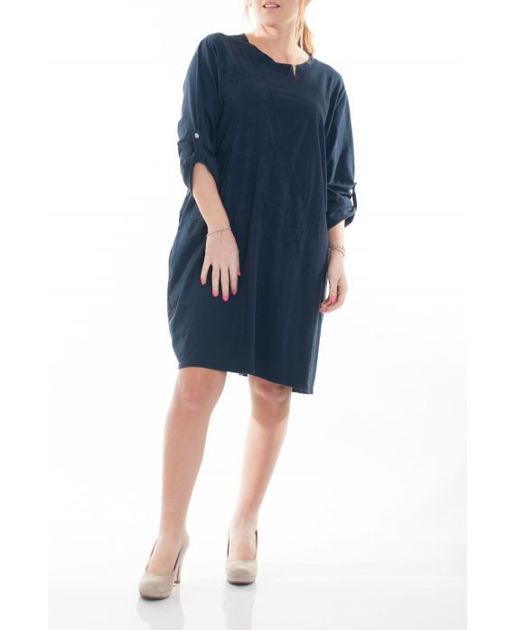 Grande taille robe tunique 6050 marine grossiste pret a - Robes americaines pret a porter ...