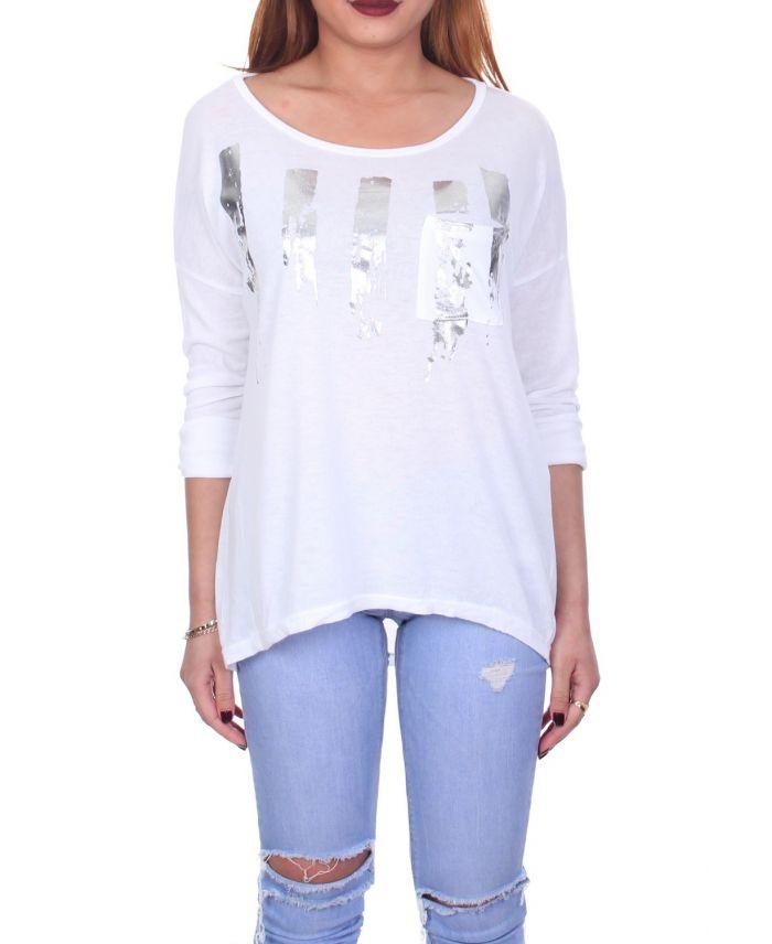 t shirt flocage 7018 blanc grossiste pret a. Black Bedroom Furniture Sets. Home Design Ideas