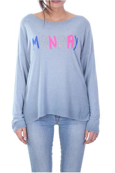 T-SHIRT MONDAY 7035 BLUE
