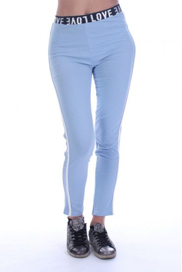 PANTS LEGGINGS LOVE 7050 BLUE