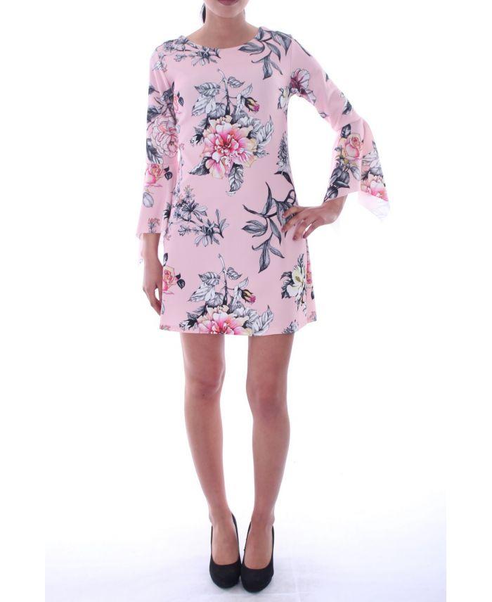 robe imprime floral 6000 rose grossiste pret a. Black Bedroom Furniture Sets. Home Design Ideas