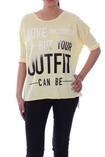 T-SHIRT OUTFIT 6099 YELLOW