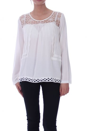 TUNIC LACE WHITE 1059