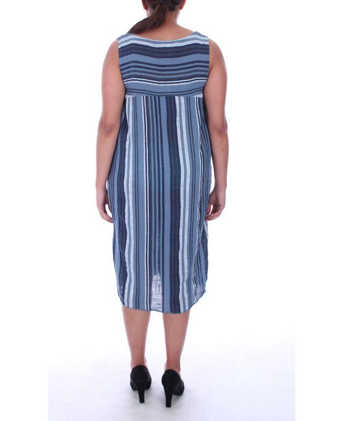 Di grandi dimensioni vestito di lino 2 tasche 9106 blu for 2 box auto di grandi dimensioni