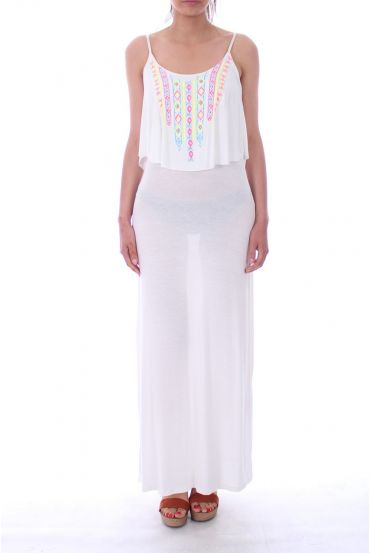 LONG DRESS 9181 WHITE