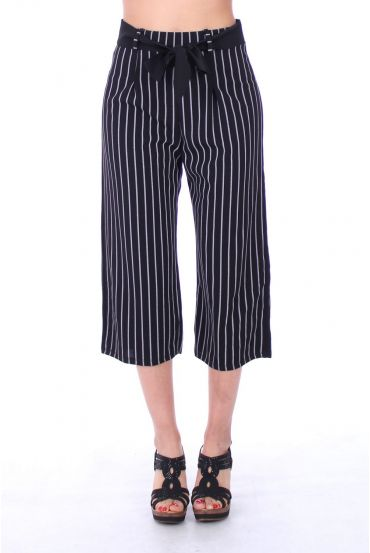 PANTS STRIPED 9191 BLACK