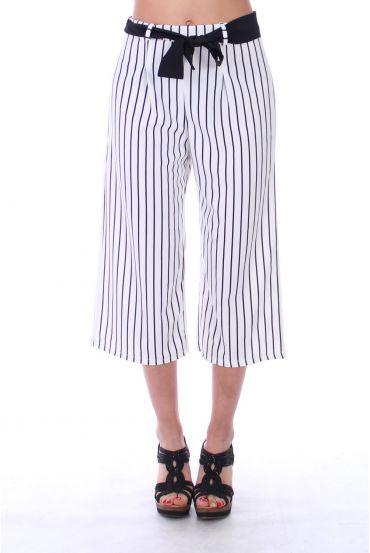 PANTS STRIPED 9191 WHITE