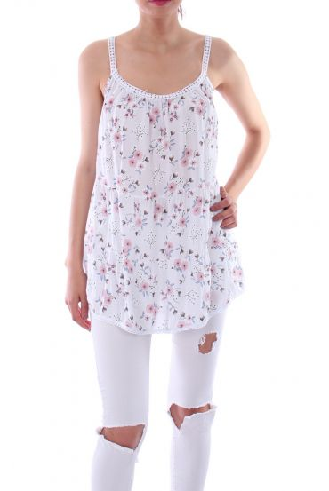 TOP FLOWERY 0104 WHITE