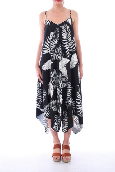 ROBE IMPRIME TROPICAL 0119 NOIR