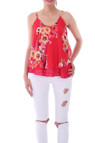 TOP PRINT FLORAL 0125 RED