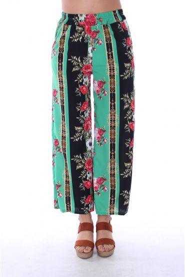 PANTS PRINTS FLOWERS 0128 GREEN