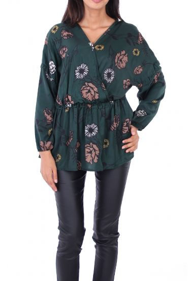 BLOUSE SATINEE 0128 GREEN
