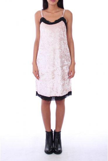 DRESS VELOUR 0129 BEIGE