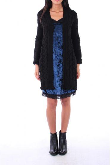 DRESS VELOUR 0129 BLUE