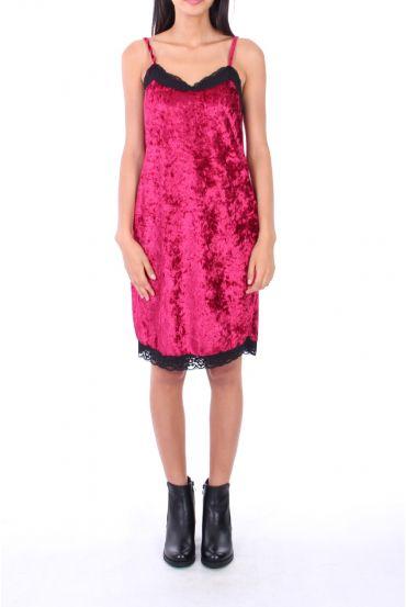DRESS VELOUR 0129 BORDEAUX