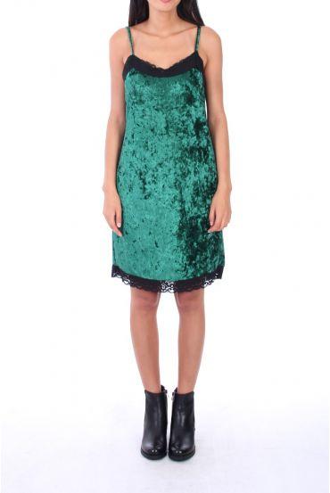 DRESS VELOUR 0129 GREEN