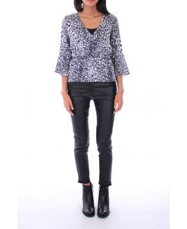 BLOUSE LEOPARD 0132 GRAY