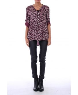 TUNIC LEOPARD 0133 BORDEAUX