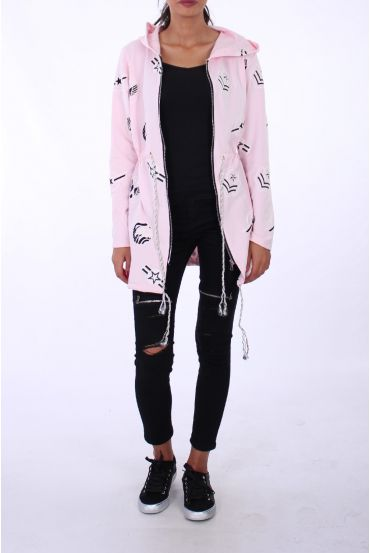JACKET ARMY 0214 PINK