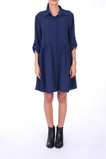 DRESS FORM SHIRT BOUTONEE 0222 BLUE