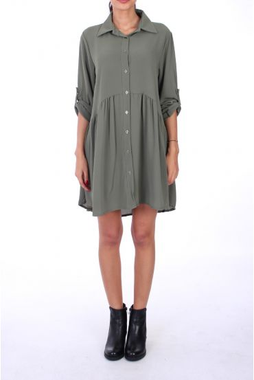 DRESS FORM SHIRT BOUTONEE 0222 MILITARY GREEN