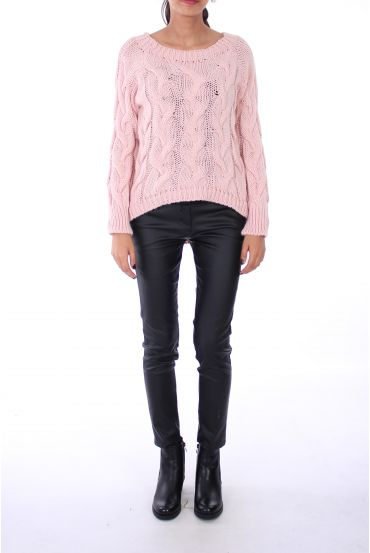 PULLOVER BUTTON SOFT 0241 ROSE