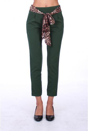 PANTS BELT LEOPARD 0292 GREEN