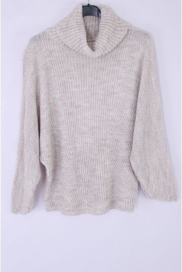 PULL COL ROULE WIRE SILVERS 0333 BEIGE