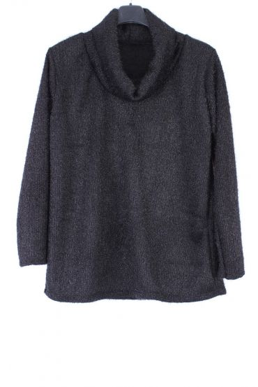 LARGE SIZE PULL COL ROULE 0360 BLACK