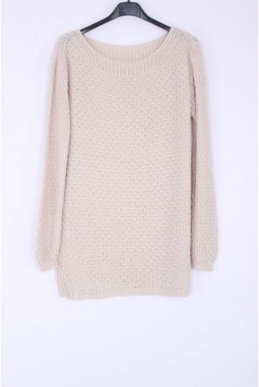 KNIT PULLOVER 0377 BEIGE