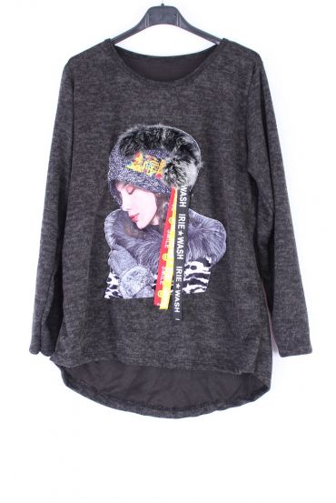 SWEATER WOMAN 0385-BLACK