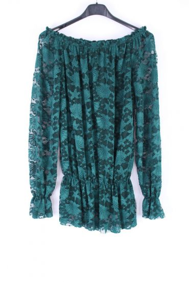 LACE TOP SHOULDERS DENUDEES 0404 GREEN