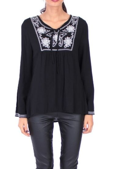 EMBROIDERED TUNIC 1078 BLACK