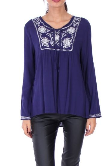EMBROIDERED TUNIC 1078 NAVY
