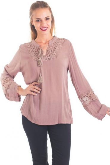 TUNIC LACE 1042 TAUPE