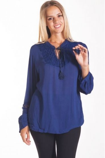 TUNIC LACE 1042 NAVY
