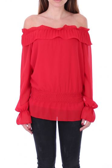 BLOUSE SHOULDERS DENUDEES 0503 RED