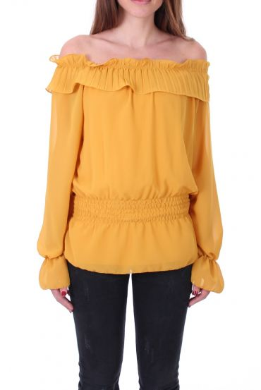 BLOUSE SHOULDERS DENUDEES 0503 MUSTARD