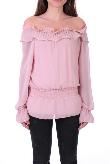 BLOUSE SHOULDERS DENUDEES 0503 PINK