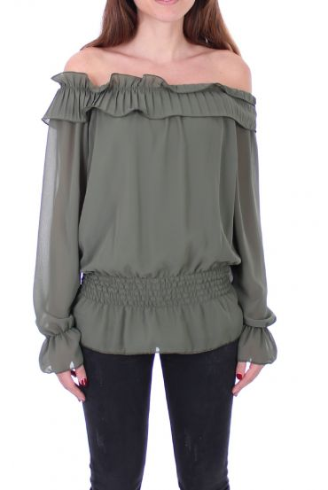 BLOUSE SHOULDERS DENUDEES 0503 MILITARY GREEN