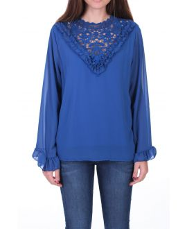 BLOUSE LACE 0511 ROYAL BLUE