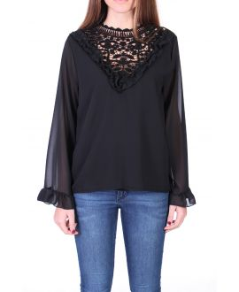 BLOUSE LACE 0511 BLACK