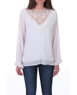 BLOUSE LACE 0511-WIT
