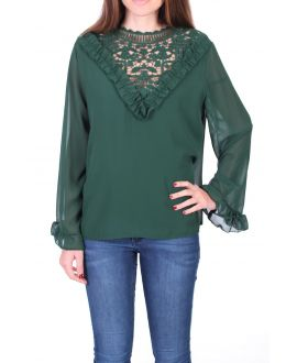 BLOUSE LACE 0511 MILITARY GREEN