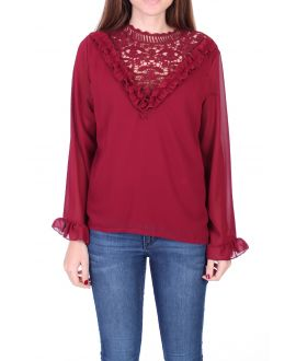 BLOUSE LACE 0511 BORDEAUX